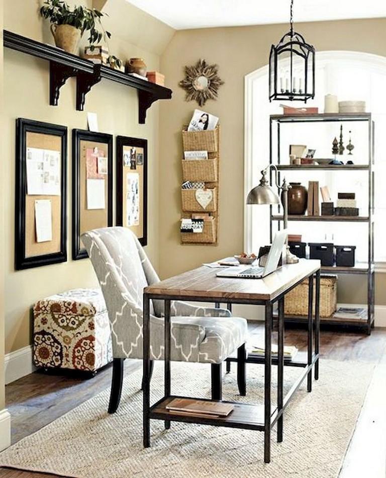 17+ Cozy Home Office Makover Ideas