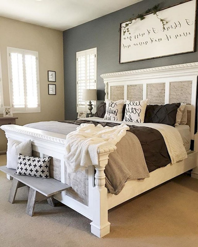 35 good urban farmhouse master bedroom makeover ideas - page 6 of 39