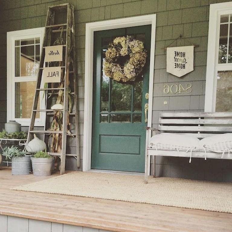 55 Luxury Farmhouse Front Porch Decor Ideas